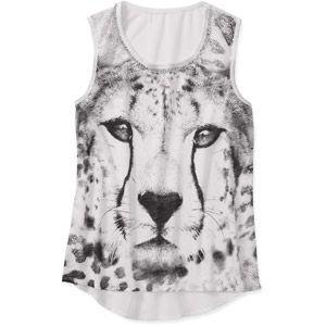 Rocker Girl Juniors Sleeveless Hi Lo Graphic Muscle Shirt