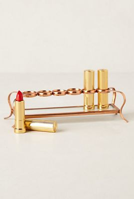 Anthro Lipstick Holder. This is genius.