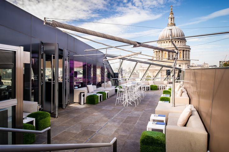 Madison | Perfectly positioned, this swanky suntrap offers one of the best views in London. Drinks start at £5 for a glass of wine, but they also serve coffees from £2.50. (Don't fancy staying for drinks? The view from here is awesome too.) Nearest station: St Paul's 17 London Rooftop Bars You Must Visit Before You Die