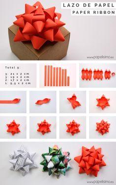 tutorial cmo hacer lazos de papel para envolver regalos originales puedes usar cualquier tipo