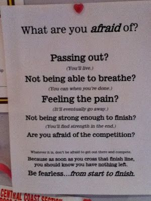 Fellow Crossfitters: Be Fearless.