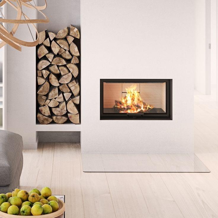 The Rais Visio 1: Technically smart, elegant and simple. #kernowfires #wadebridge #redruth #cornwall #rais #inset #stove #fire #wood #burner #modern #contemporary #house #home