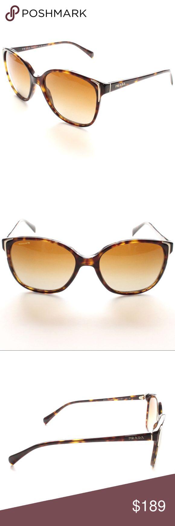 PRADA Spr01o 2au-6e1 Brown Tortoise  Polarized Brand New 100% Authentic PRADA Spr01o 2au-6e1 Tortoise Cat Eye Frame W/ Polarized Brown Gradient Lenses  Comes with Original Prada Case, NO Pouch Prada Accessories Sunglasses