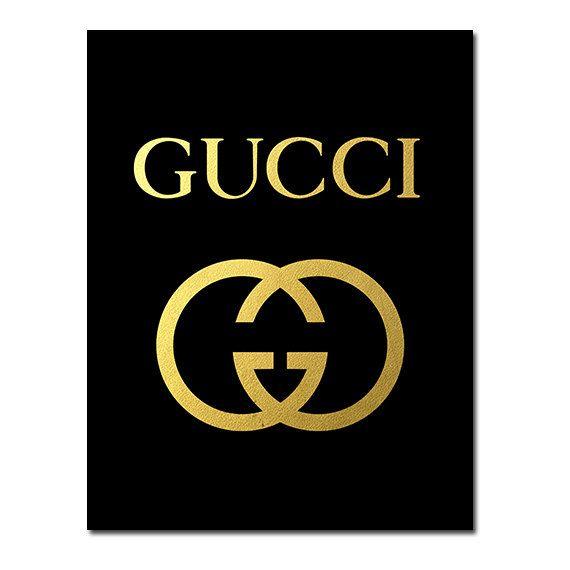 Buy 1 Get 1 Free Printable Gucci Logo Poster Gucci от