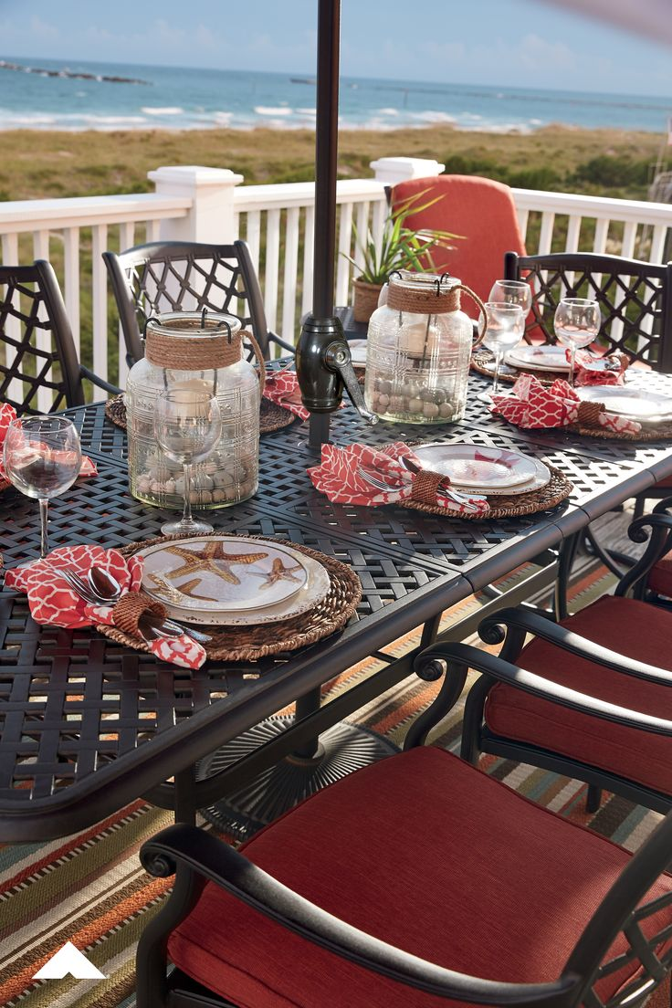 Beachy Outdoor Dining Table Set Ideas and Inspiration by Outdoor by Ashley from Ashley… (With ...