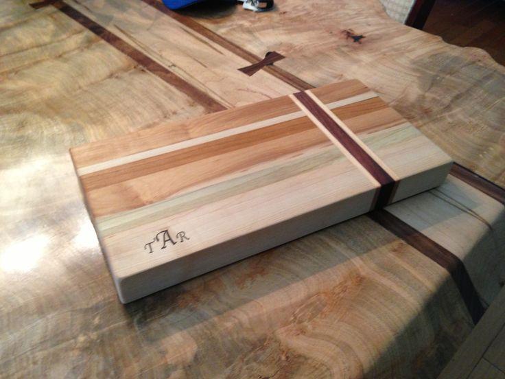 maple cherry poplar walnut edge grain cutting board monogrammed for customer my projects. Black Bedroom Furniture Sets. Home Design Ideas
