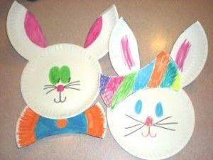 Paper Plate Rabbit Craft Toddler