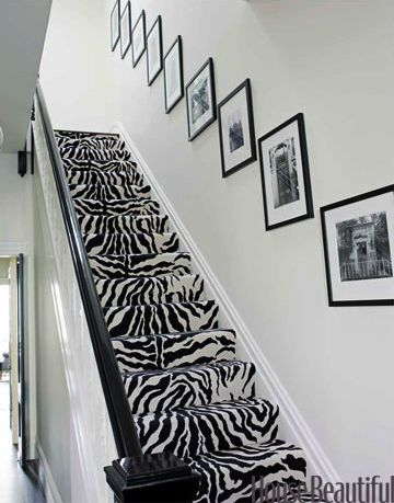 If I have stairs it will absolutely have Wild Animal Print!!! That's my current style in my home & I can not wait to continue it;-)