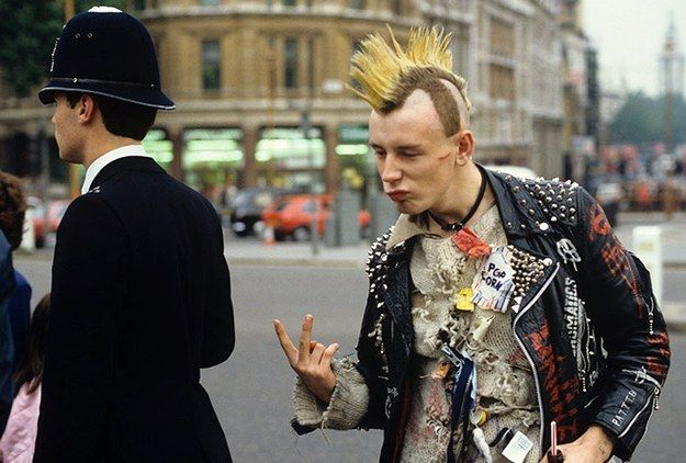 Step one: take a splendid photo of a punk. | Just In Case Anyone Still Thinks Nigel Farage Was A Punk In 1983, He Wasn't