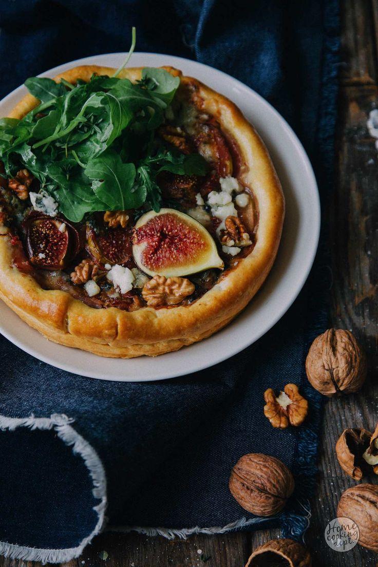 Herfst op je bord! Hartige vijgentaart met pancetta, walnoten en roquefort