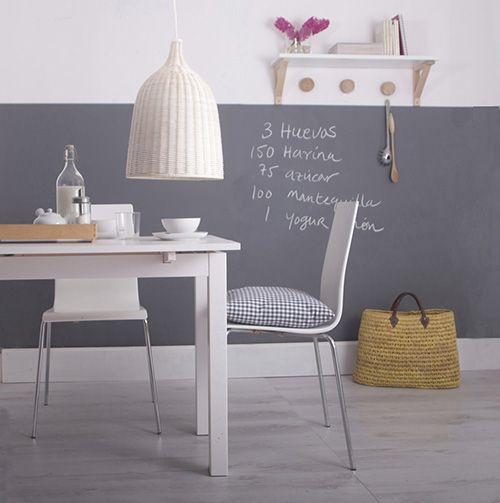 Z calo de pizarra gris graffiti en la cocina cocina - Zocalos para paredes ...