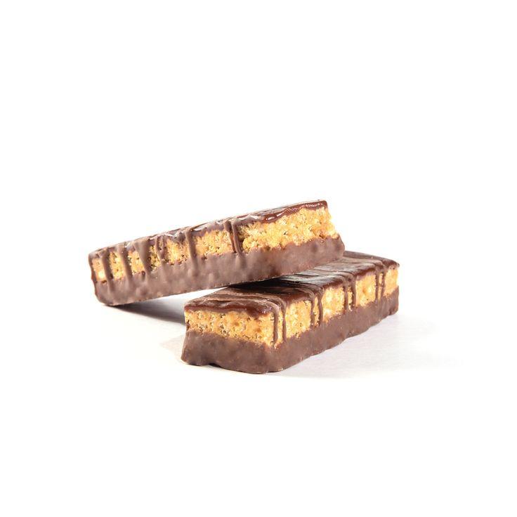 Barritas sabor cacahuete Vegefast, ricas en proteínas y fibra, reducidas en hidratos de carbono y grasas.