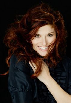 Debra Messing auburn red hair with highlights ~~ 21 most famous celebrity redheads to inspire your next hairstyle
