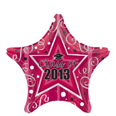 Class of Burgundy Star 2012 Graduation Balloon – Party City