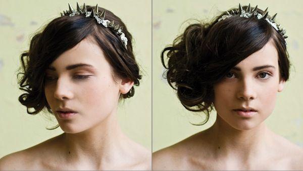 Spikey #bridal headband for punk loving brides