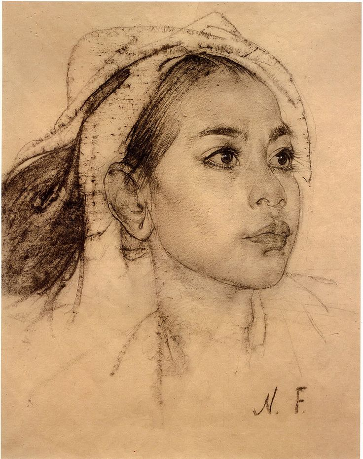All sizes | Nicolai Fechin: Young Balinese Woman | Flickr - Photo Sharing!