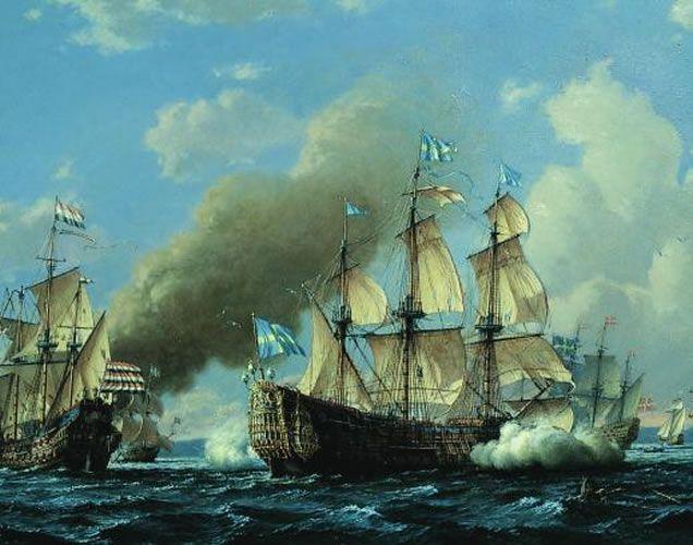 El Kronan en la batalla de Bornholm (Francis Smitheman)