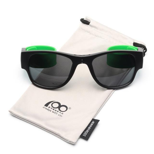 ee4cba91f3 High Quality Patent Slap Folding Polarized Sunglasses with Case Protable  Foldable Sport Holder Sun Glasses