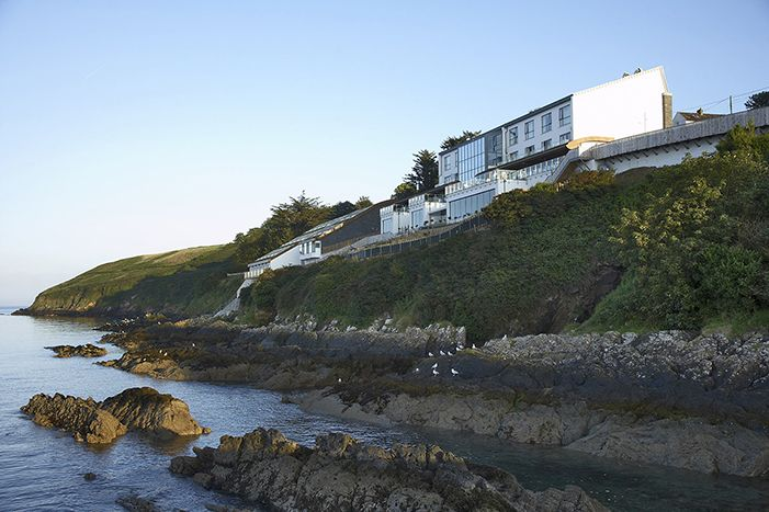Cliff House Hotel. Hotel and restaurant on the seafront. Ireland, Ardmore Co. Waterford. Unique in the world: stunning location, overlooking Ardmore Bay. #relaischateaux #cliffhousehotel #cliffhouse