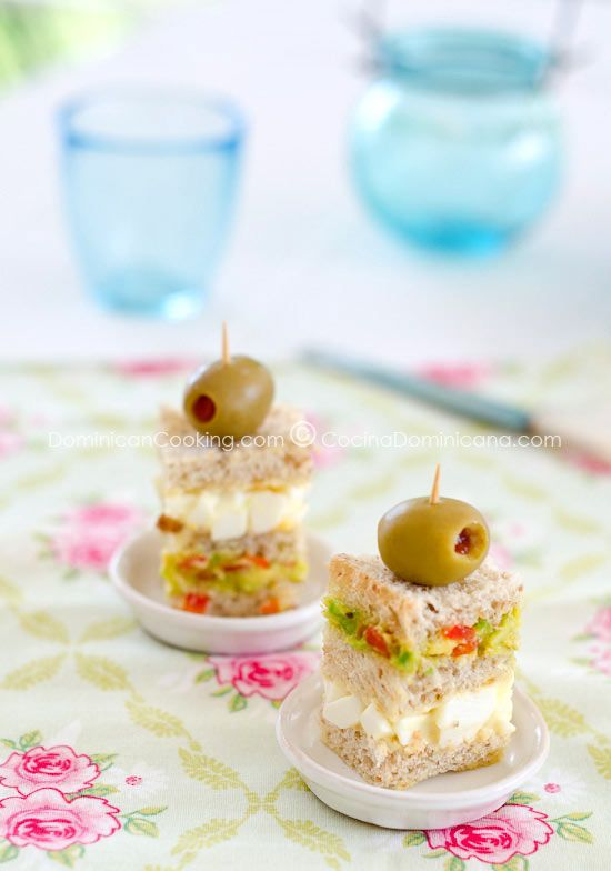 Triples (Triple-layered mini-sandwich). What a cute little finger sandwich for a tea party