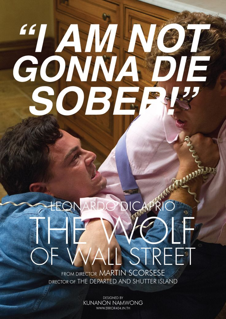 Alternative The Wolf of Wall Street poster by Kunanon Namwong