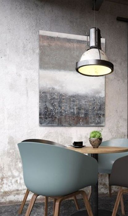 grey, Acrylic painting by Dee Brown | Artfinder