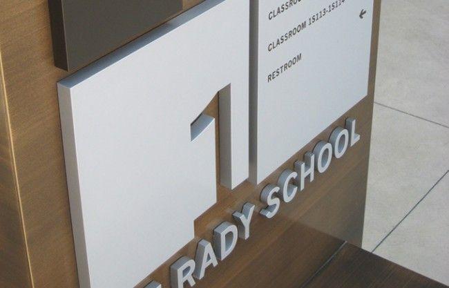 Rady School Signage Design Egd Interior Signage