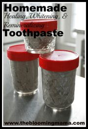Homemade Healing, Whitening, and Remineralizing Toothpaste Tutorial  The very best recipe so far!  www.thebloomingmama.com