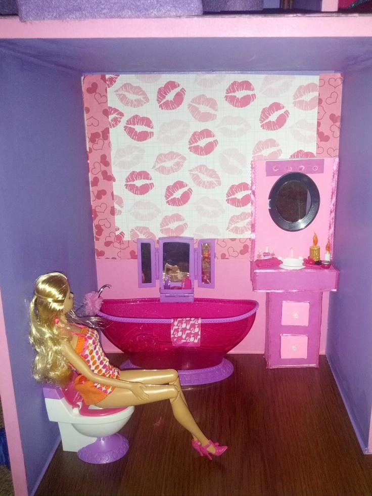 000 Ideen Zu U201eBarbie Bathroom Auf Pinterest Barbiehaus, Barbie ~ Barbie  Badezimmer