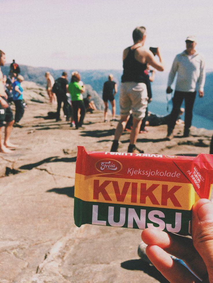 Kvikk Lunsj - a mandatory snack for any Norwegian hike.