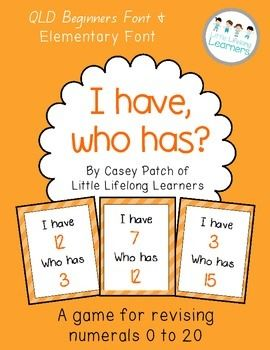 I have, who has. A number, numeracy, math freebie for revising numerals and numbers 0 to 20.