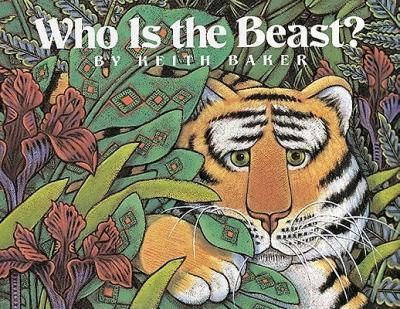Baker-has-created-a-simple-rhyming-text-in-the-form-of-a-riddle-and-stunning-full-color-illustrations-to-tell-the-story-of-animals-fleeing-from-a-beast-Children-will-know-who-the-beast-is-before-the-tiger-does-and-can-join-the-adventure-as-they-read-A-handsome-book-with-an-appealing-story-and-a-gentle-implicit-message-Kirkus-Reviews