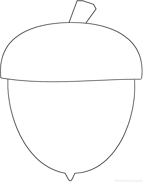 fall coloring pages and shapes kindergarten | Fall (Autumn) Crafts - EnchantedLearning.com