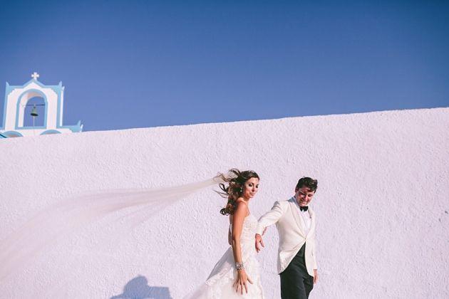 Post Ceremony Photo Session in Santorini - Greece