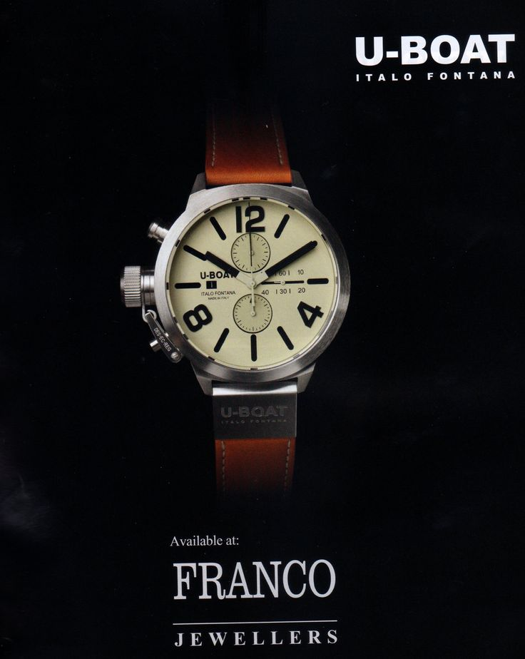 Franco Jewellers sells watch of distinction #francojewellers #classico #uboat #manchesterunity #chadstone Jewellery with style and conviction www.franco.com.au