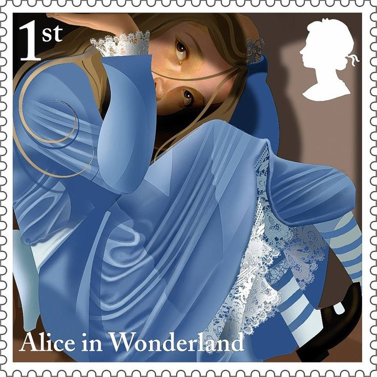 Curiouser and curiouser. Royal Mail honours Alice in Wonderland with special stamps.
