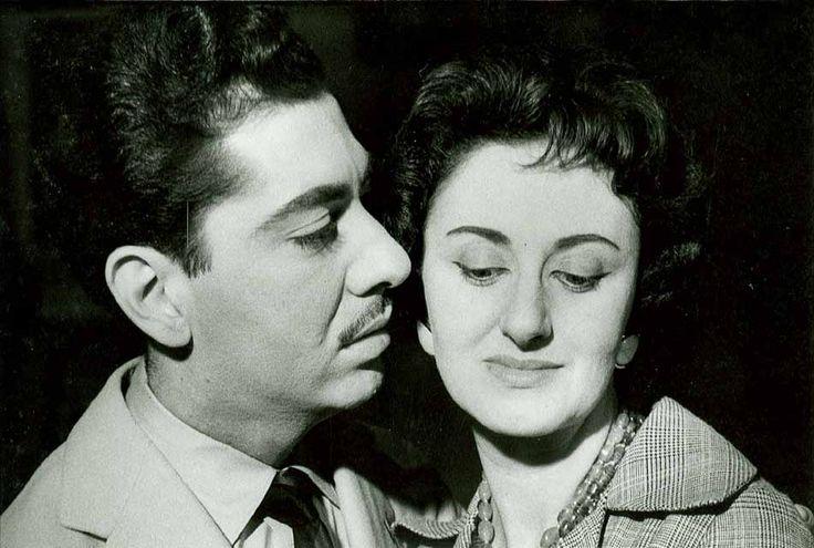 da Gomes e o rádioator e comediante Jomeri Pozzoli, 1959. Fotógrafo não identificado. Cedoc-Funarte