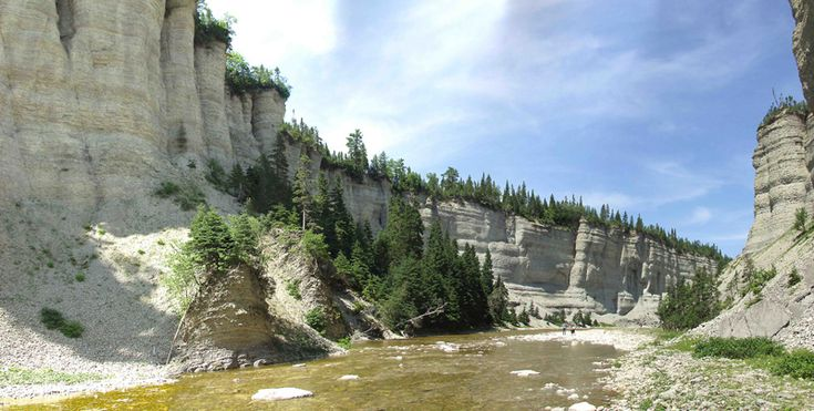 Vaureal River canyon, Anticosti Island, Gulf of the Saint-Lauence River (Quebec)