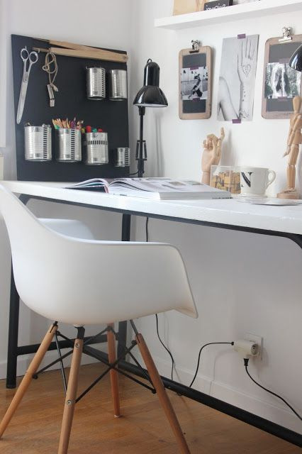 Work Space Black and white Minimalist scandinavian