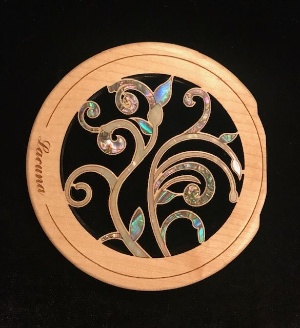 Custom Acoustic Guitar Sound Hole Insert With Natural Shell Inlay Taylor Design Custom Acoustic Guitars Guitar Accessories Custom Guitars