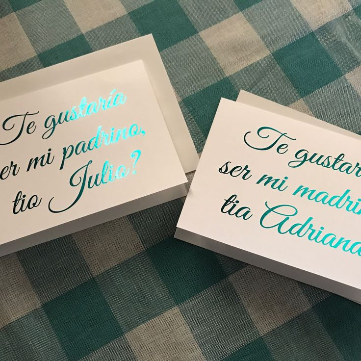 Teal foil Godmother card (in Spanish) a shop favorite!