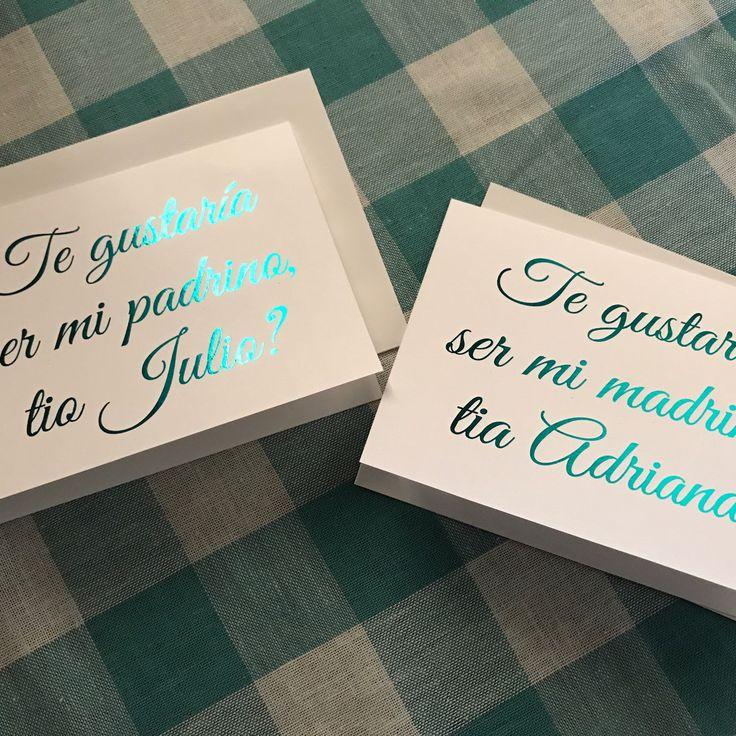 Teal foil Godmother card (in Spanish) a shop favorite!