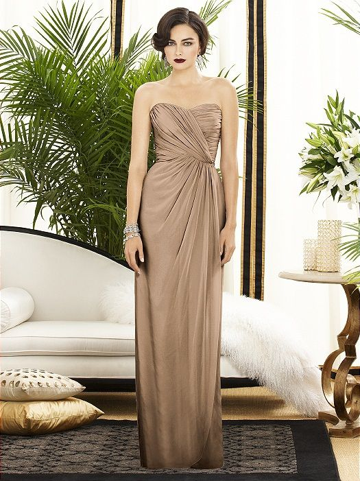 Bronze Bridesmaids in Dresses Designers