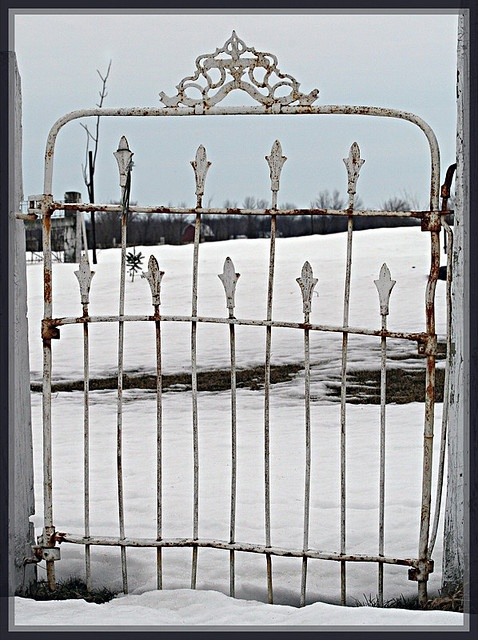 This Gate Guards The Entrance To The Garden At The Jay County Retirement  Home
