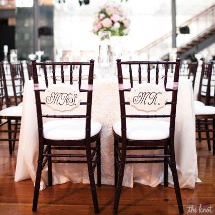 Mr. and Mrs. Chair Decorations