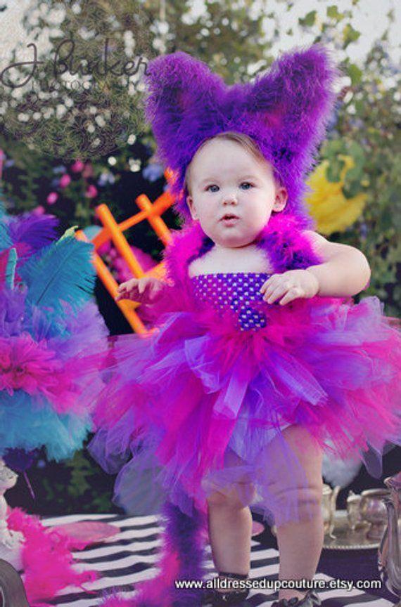 Alice in Wonderland Christmas party cosplay Girls TUTU Dress Handmade Cheshire