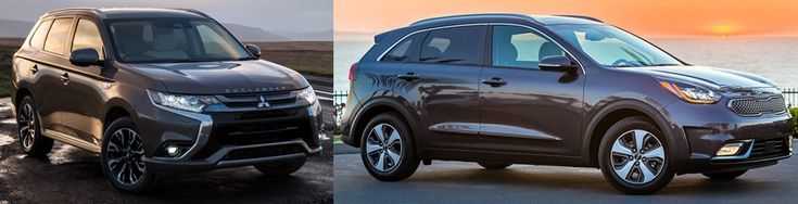 Comparison of the 2018 Mitsubishi Outlander PHEV and Kia Niro PHEV