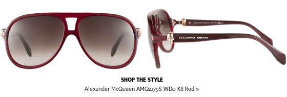 Alexander McQueen Sunglasses: Modern Gothic | #theLOOK #Sunglasses