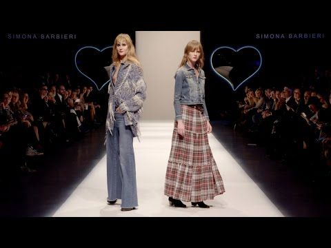 TWINSET Simona Barbieri Fall Winter 2016/17 Jeans Fashion show - YouTube
