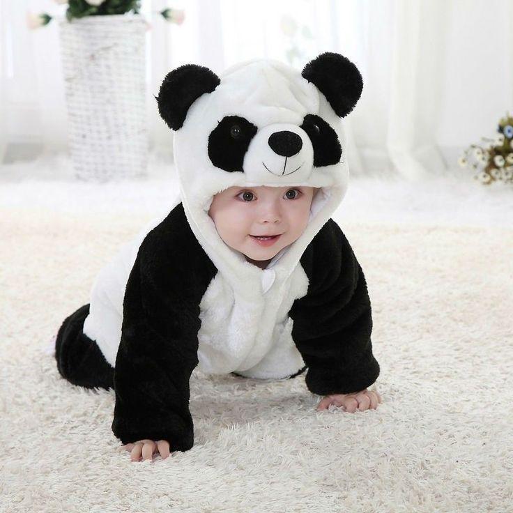Nieuwe Collectie Baby Jongen Meisje panda Hooded Rits Rompertjes Leuke Baby Warm Kostuum Panda Klimmen Pyjama Romper Overall in      2015 Nieuwste Mode Baby Kids Kleding!  hoge kwaliteit en nieuwe 100%  belangrijkste Kleur: ALS De Foto  nieuw in Fa van rompers op AliExpress.com | Alibaba Groep